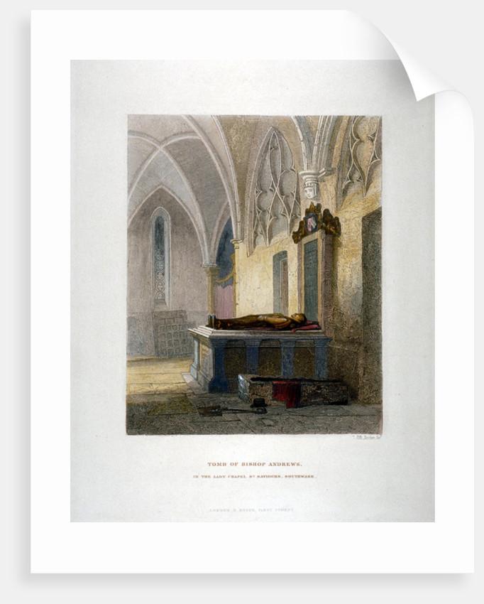 Tomb of Lancelot Andrews in the Lady Chapel, St Saviour's Church, Southwark, London by John Wykeham Archer