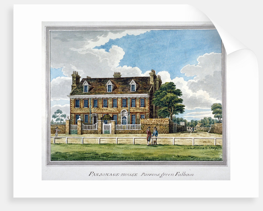 View of Parsonage House, Parson's Green, Fulham, London by Anonymous
