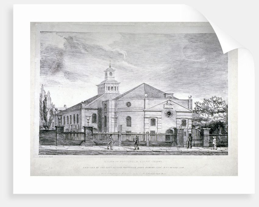 Whitefield's Tabernacle, Tottenham Court Road, St Pancras, London by J Prickett