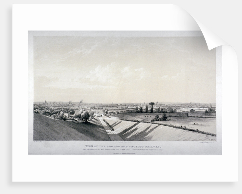 London and Croydon Railway, New Cross, Deptford, London by Edward Duncan