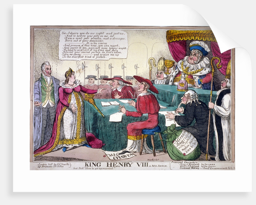 King Henry VIII, act II, scene iv by JL Marks
