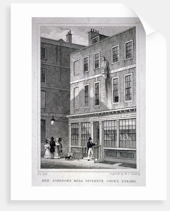 The Ben Johnson's Head inn, Devereux Court, Westminster, London by MJ Starling