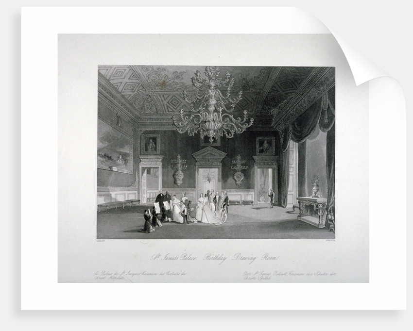 Drawing-room in St James's Palace, Westminster, London by Harden Sidney Melville