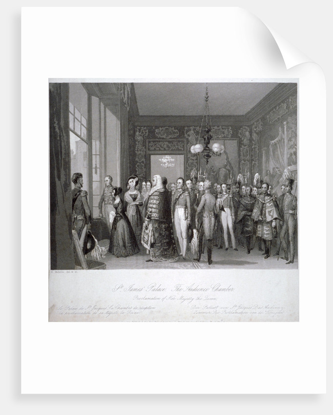 People in the the audience chamber in St James's Palace, Westminster, London by Harden Sidney Melville