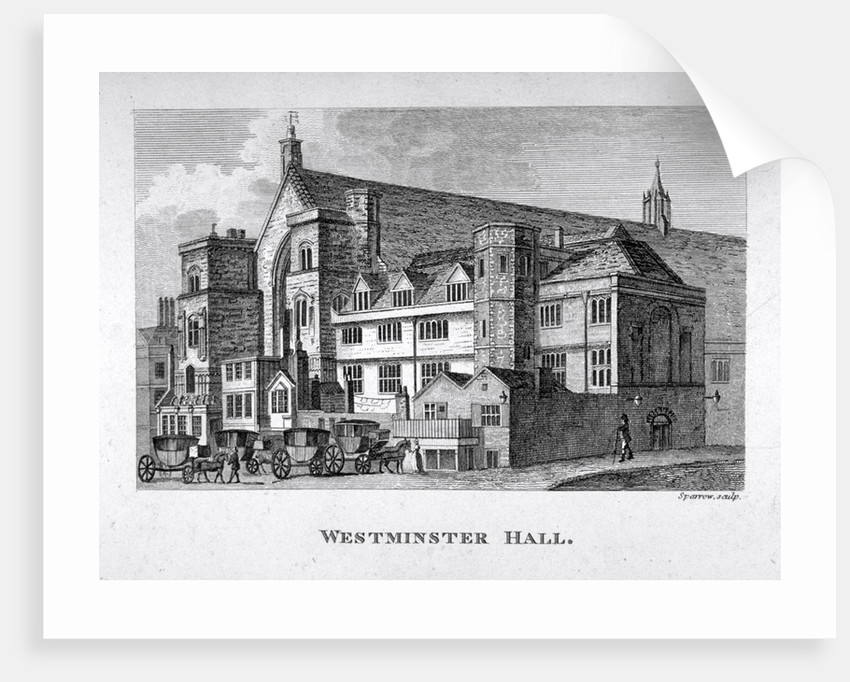 View of Westminster Hall from New Palace Yard, London by
