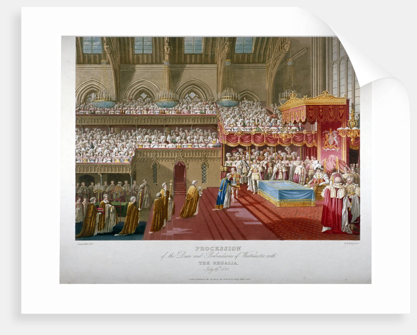 Coronation of King George IV, Westminster Hall, London, 1821 by Matthew Dubourg