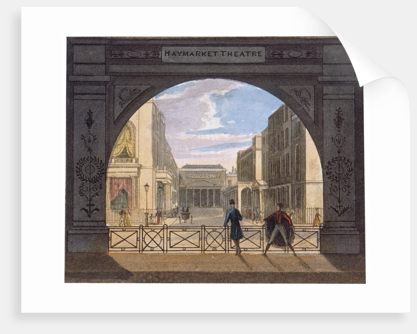 View of the Haymarket Theatre, London by Anonymous