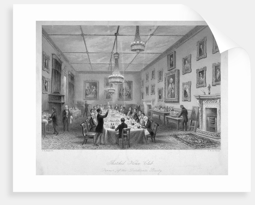 Interior of the Thatched House Tavern, St James's Street, London by