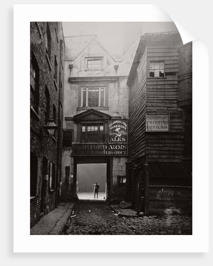 View of the gateway to the Oxford Arms Inn, Warwick Lane, City of London by Society for Photographing the Relics of Old London
