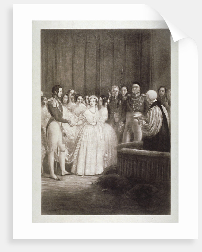 Marriage of Queen Victoria and Prince Albert, St James's Palace, Westminster, London by George Hayter
