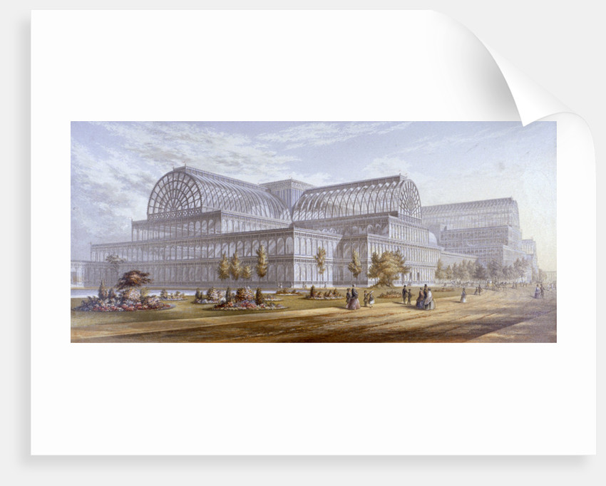 View of the Crystal Palace and its surrounding park, Sydenham, Bromley, London by Anonymous