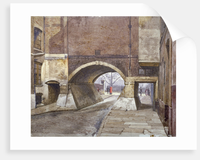 View of the entrance to Lincoln's Inn Fields in Duke Street, Westminster, London by John Crowther