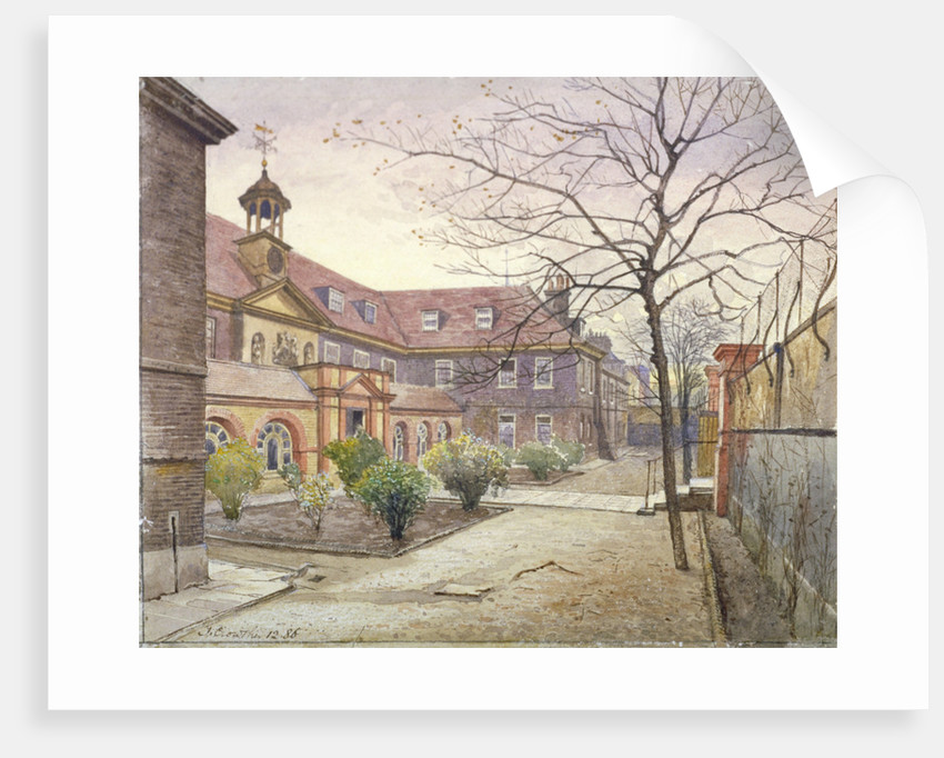 View of Grey Coat Hospital, Greycoat Place, Westminster, London by John Crowther