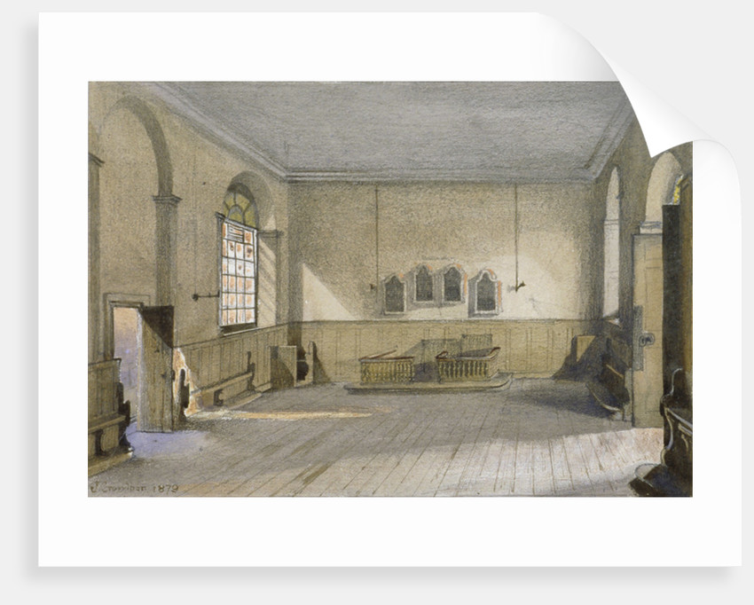 The chapel in Queen's Bench Prison, Borough High Street, Southwark, London by