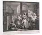 A Rake's Progress; plate V of VIII by William Hogarth