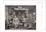 The Compleat trull at her lodging in Drury Lane, plate III of The Harlot's Progress by William Hogarth