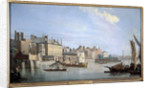 The Thames with Montagu House, from near Westminster Bridge, London by Samuel Scott