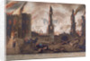 Ludgate, Great Fire of London, London by William Birch