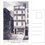 Marshall's Lottery Office, Holborn, London by Anonymous