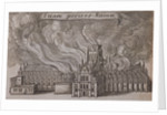St Paul's Cathedral (old), London, on fire by