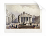 Royal Exchange and the Bank of England on the left, London by Thomas Picken