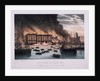 View of the Cotton's Wharf Fire, Bermondsey, London by Anonymous