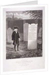 John Wesley visiting his mother's grave in 1779, Bunhill Fields, Finsbury, London by G Hunt