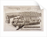Aerial view of Charterhouse, Finsbury, London by
