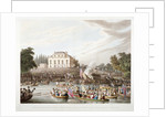 View of the River Thames at Brandenburgh House, Hammersmith, London by Matthew Dubourg