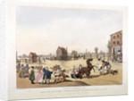 View of the Cambridge Heath Turnpike, Hackney, London by Heinrich Schutz