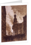 Royal Exchange Fire, London by Anonymous
