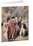 George III presenting a Sword to Admiral Earl Howe by Isaac Cruikshank