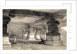 Interior of Lanka, Ellora, India by Thomas Colman Dibdin