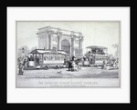 Marble Arch and street trams, London by MacDonald