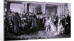 Queen Victoria presenting medals to the Guards after the Crimean War by W Bunney