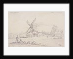 View of mill with a windmill on Blackheath, Greenwich, London by George Shepheard