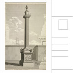 View of the Monument, City of London by