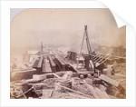 Holborn Viaduct under construction, Holborn, London by Henry Dixon