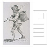 Prison Basket Man, c1680, Cries of London, (c1819?) by John Thomas Smith