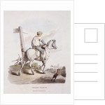 A butcher's boy riding a horse, Provincial Characters by Anonymous