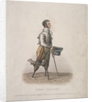 Owen Clancy, begging with his hat in hand, on crutches and with devices strapped to his legs by Thomas Lord Busby