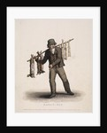 Rabbit seller carrying a pole hung with rabbits by Thomas Lord Busby