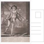 Lamplighter, 1790; with humorous text in the lower margin by