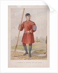 Waterman in Doggett's coat and badge, (c1860?) by Anonymous