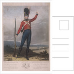 Military figure wearing the uniform of the first regiment of Loyal London Volunteers by J Green