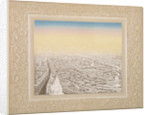 Aerial view of London framed in a decorative border by Kronheim & Co