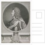 Oval portrait of George I, King of Great Britain by