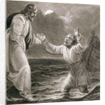 Christ Walking on the Water by Henry Corbould