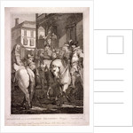 Departure of the Canterbury Pilgrims, Borough High Street, Southwark, London by T Hogg