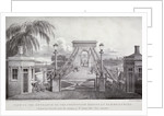 View of the entrance to the suspension bridge at Hammersmith... by Thomas Mann Baynes